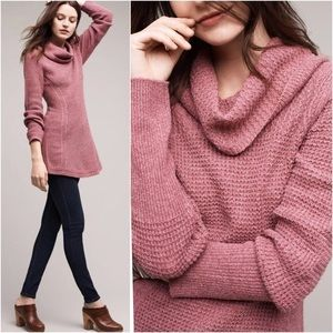 Angel of the North cowl neck sweater dress L